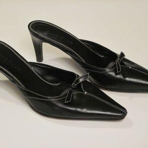 Cole Haan Black leather size 7B slip on heel